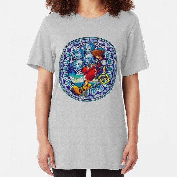 Kingdom Hearts - Sora's Station of Awakening  Slim Fit T-Shirt