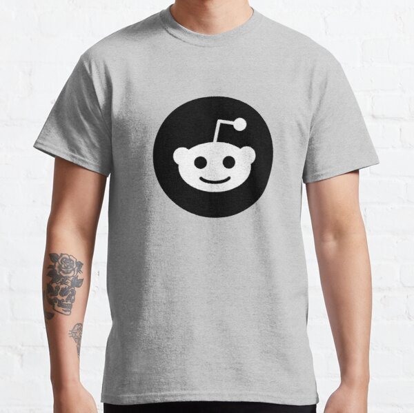 Black Reddit Logo Classic T-Shirt