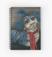 Labyrinth Worm - Oil Painting  Spiral Notebook