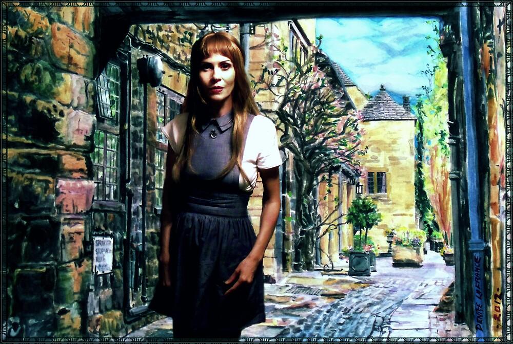 """Denise LaFrance In Her """"Broadway Near Warwickshire"""" Waterolor by Denise LaFrance"""