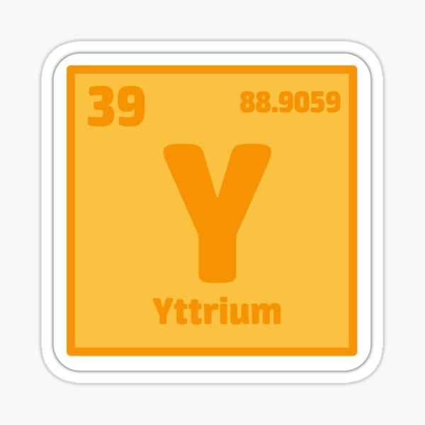 Element Yttrium Sticker Sticker