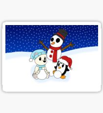 Let's Build a Snowman! Sticker