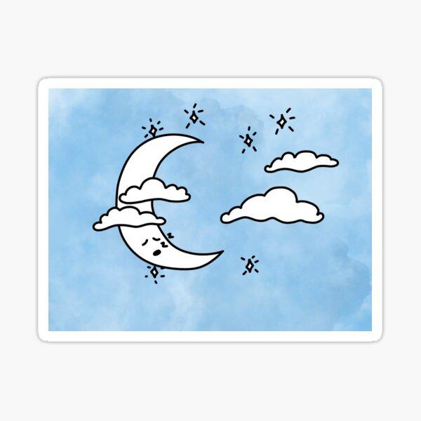 Sleepy Moon Sticker
