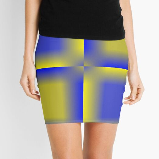 Colors, Cobalt Blue  Mini Skirt