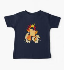 Cyndaquil - Quilava - Typhlosion Baby Tee