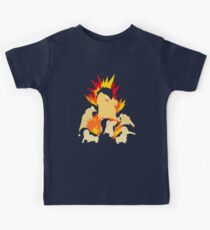 Cyndaquil - Quilava - Typhlosion Kids Tee