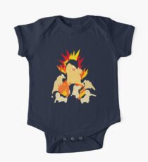 Cyndaquil - Quilava - Typhlosion One Piece - Short Sleeve