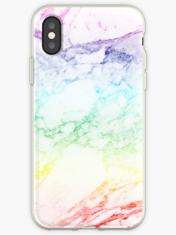 sports shoes ce58a 8fe4a 'RAINBOW MARBLE' iPhone Case by sofiedahlberg