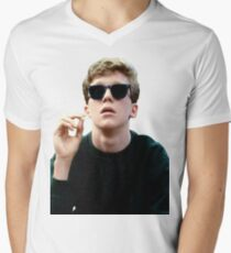 Colored Brian Breakfast Club Men's V-Neck T-Shirt