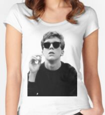 Black and White Brian Breakfast Club Women's Fitted Scoop T-Shirt
