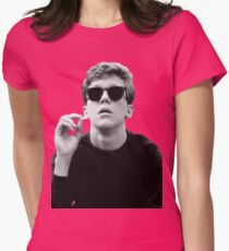 Black and White Brian Breakfast Club Womens Fitted T-Shirt