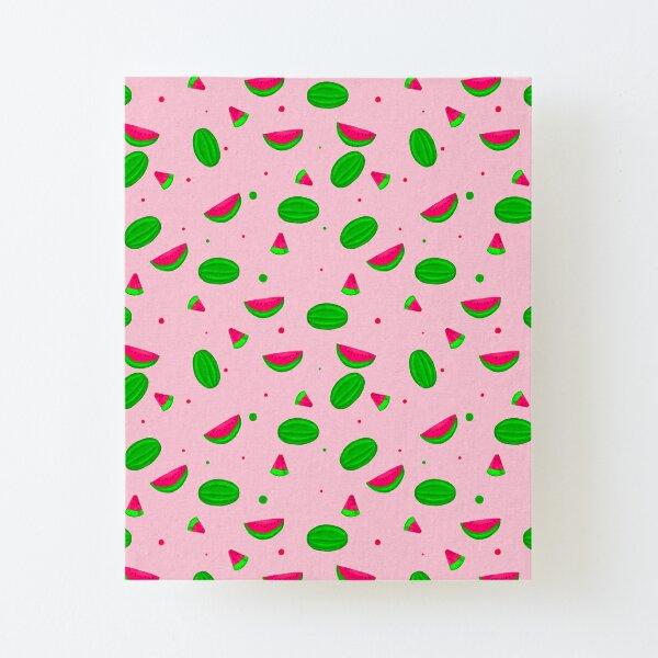Pink Summer Watermelon Canvas Mounted Print