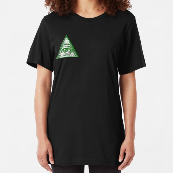 All Seeing Eye - Small logo Slim Fit T-Shirt