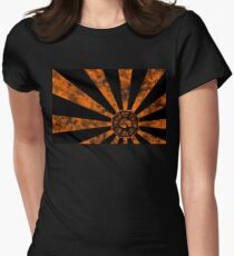 Dharma logo-Lost Womens Fitted T-Shirt