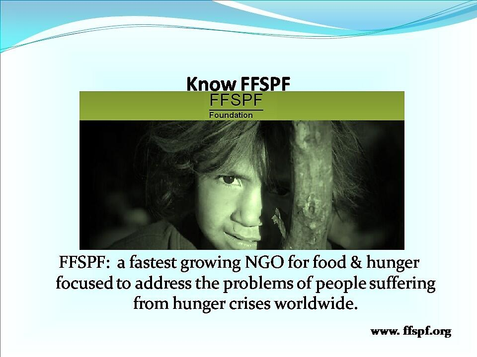FFSPF:  A Fastest Growing NGO for Food & Hunger. by vernicalogic