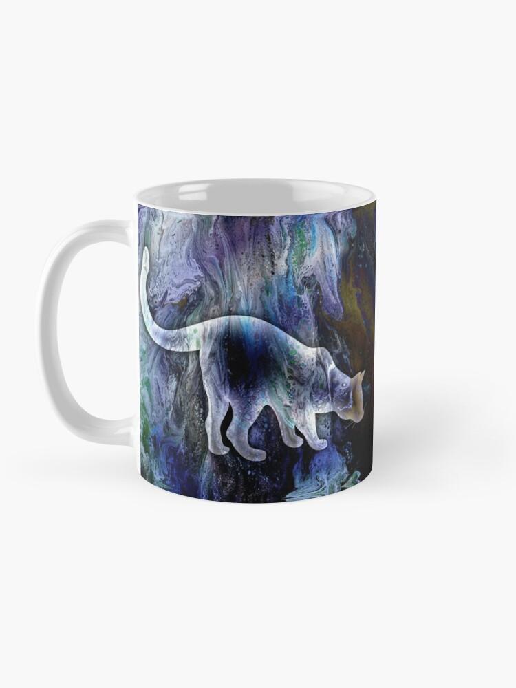 Alternate view of Curiosity: cat being curious Mug