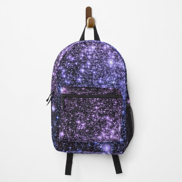 Galaxy Sparkle Stars Lavender Periwinkle Blue Ombre  Backpack