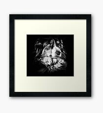 Crazy beautiful girl Framed Print