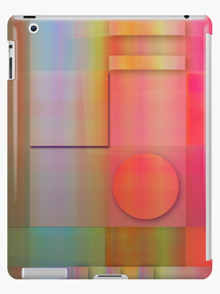 Modern Geometric shapes case with Summer colours by walstraasart