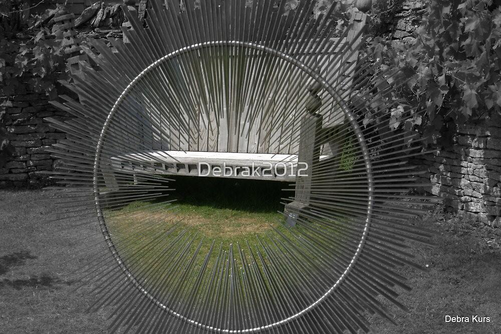 Circular sculpture and bench by Debrak2012