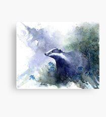 Water colour Badger Canvas Print