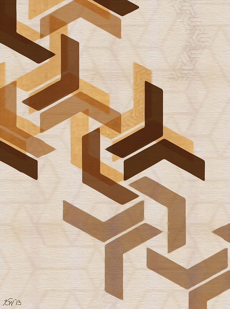 Chevron Honeycomb Series 1 of 3 by kdwolfe