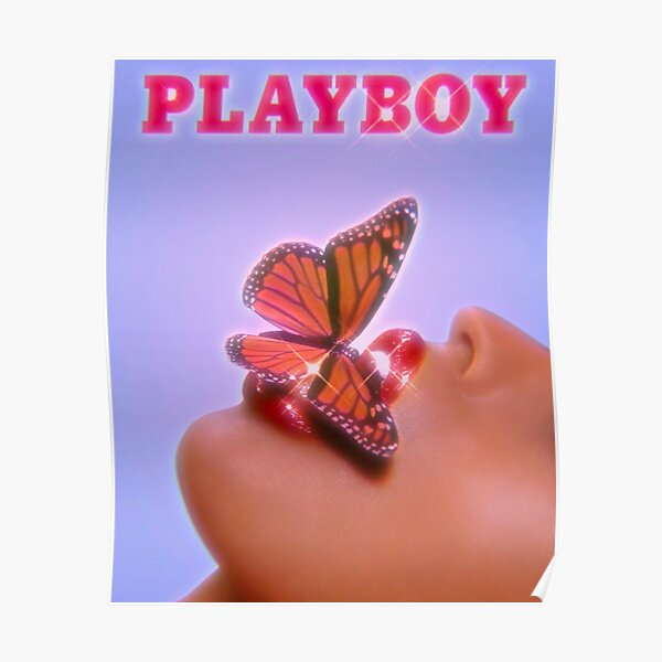 BLUE PLAYBOY BUTTERFLY Poster
