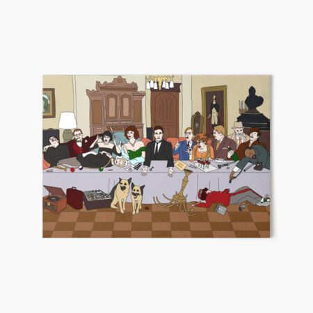 The Last Supper at Boddy Mansion Art Board Print