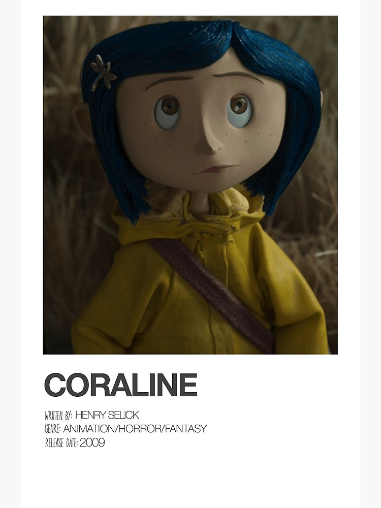 Coraline Movie Poster Greeting Card By Kkxren Redbubble