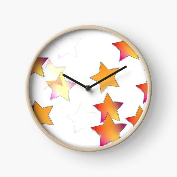 gradient stars Clock