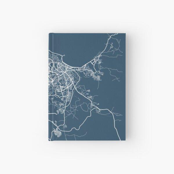 Tangier Blueprint Street Map, Tangier Colour Map Prints Hardcover Journal