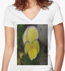 Immersed In The Violet Women's Fitted V-Neck T-Shirt