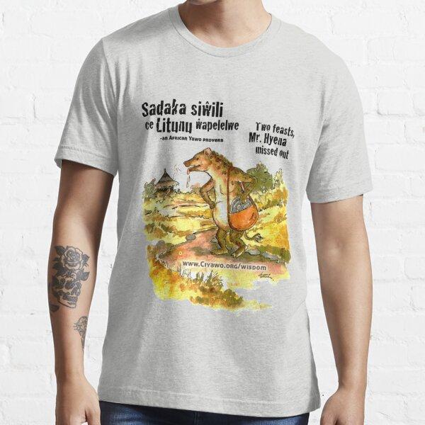 Mr. Hyena, Two Sadakas - black text Essential T-Shirt