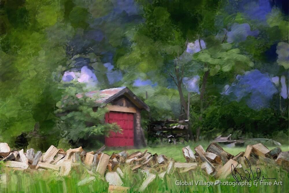 OC1008 - Wood Farm by Global Village Photography & Fine Art