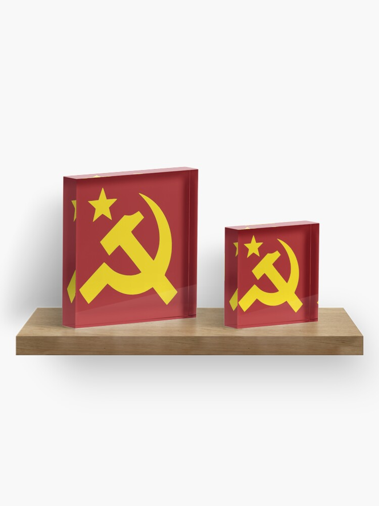Alternate view of Communism Hammer Sickle Flag Acrylic Block