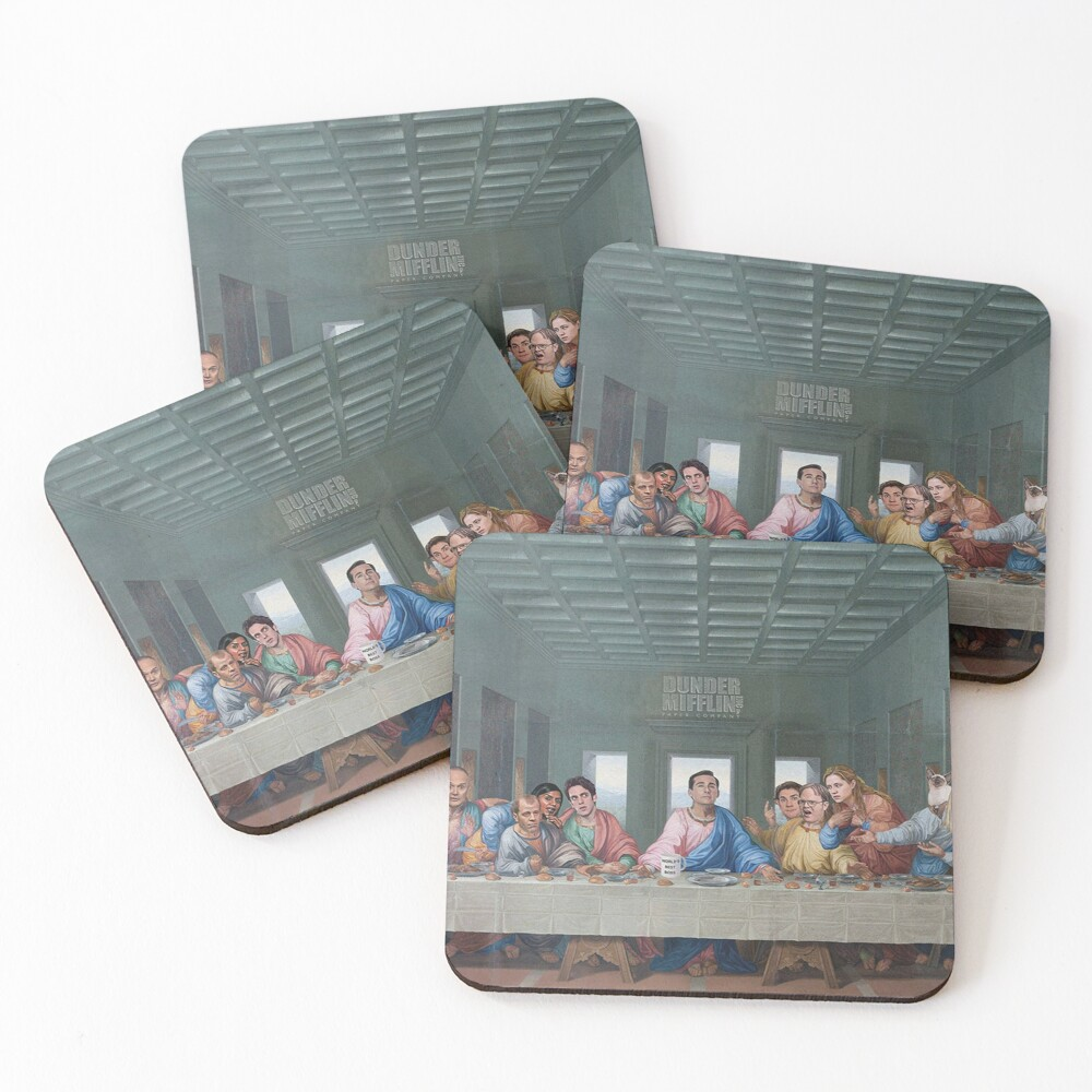 The Last Supper Office Edition Coasters (Set of 4)
