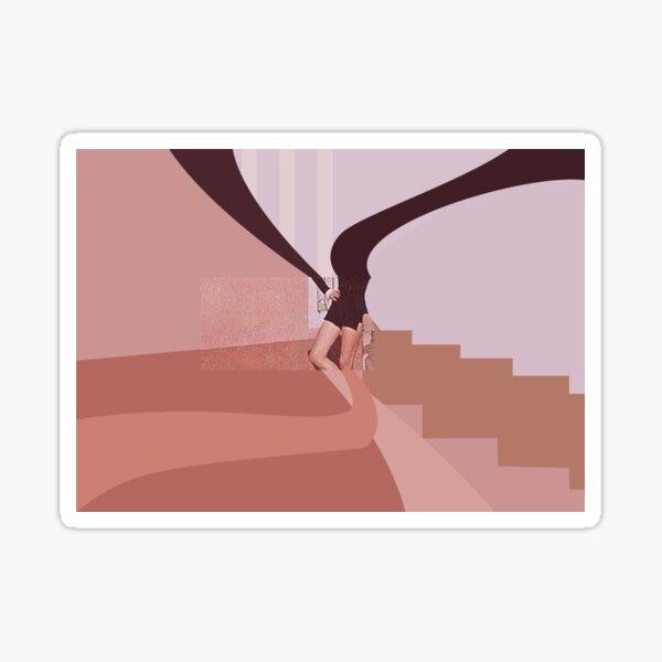 analogous pink Sticker