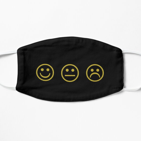 Smile Frown Flat Mask