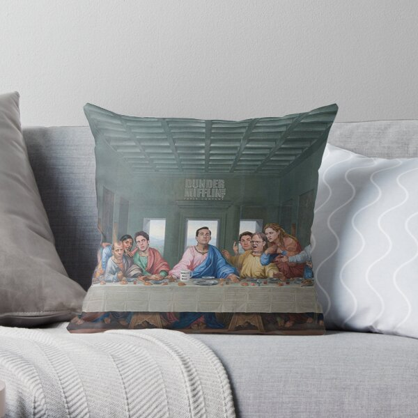 The Last Supper Office Edition Throw Pillow