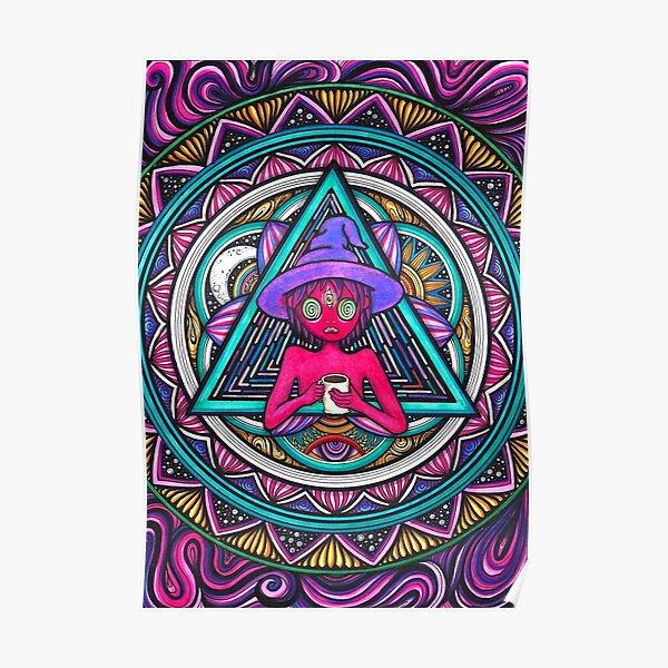 Trippy Clancy Mandala Inspired Poster