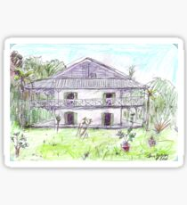 Doctor's House, Old Leprosy Colony, Curieuse Island Sticker