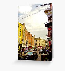 Cork City Street Scene 001  Greeting Card