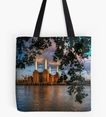 Before Sunset - Battersea power station Tote Bag
