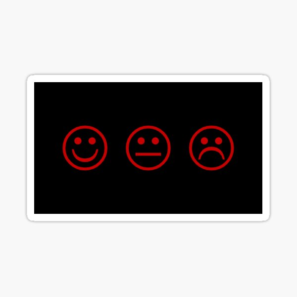 Smile Frown Red Sticker