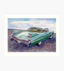 Cadillac Cruising Art Print