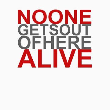 Noone Alive (white T) by V-ger