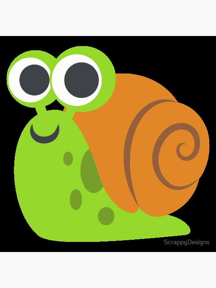 Snail Emoji Greeting Card By Scrappydesigns Redbubble