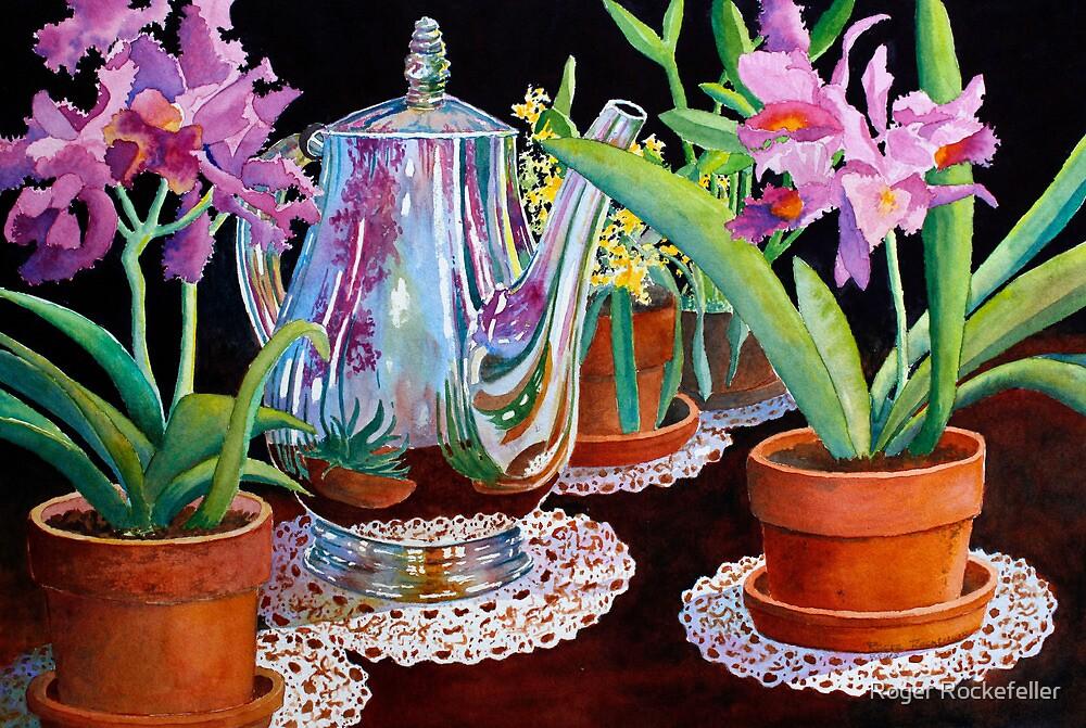 Coffee & Flowers by Roger Rockefeller