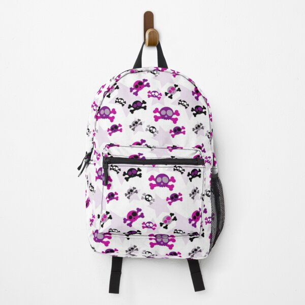 Girly Skulls and Crossbones with Stars Backpack