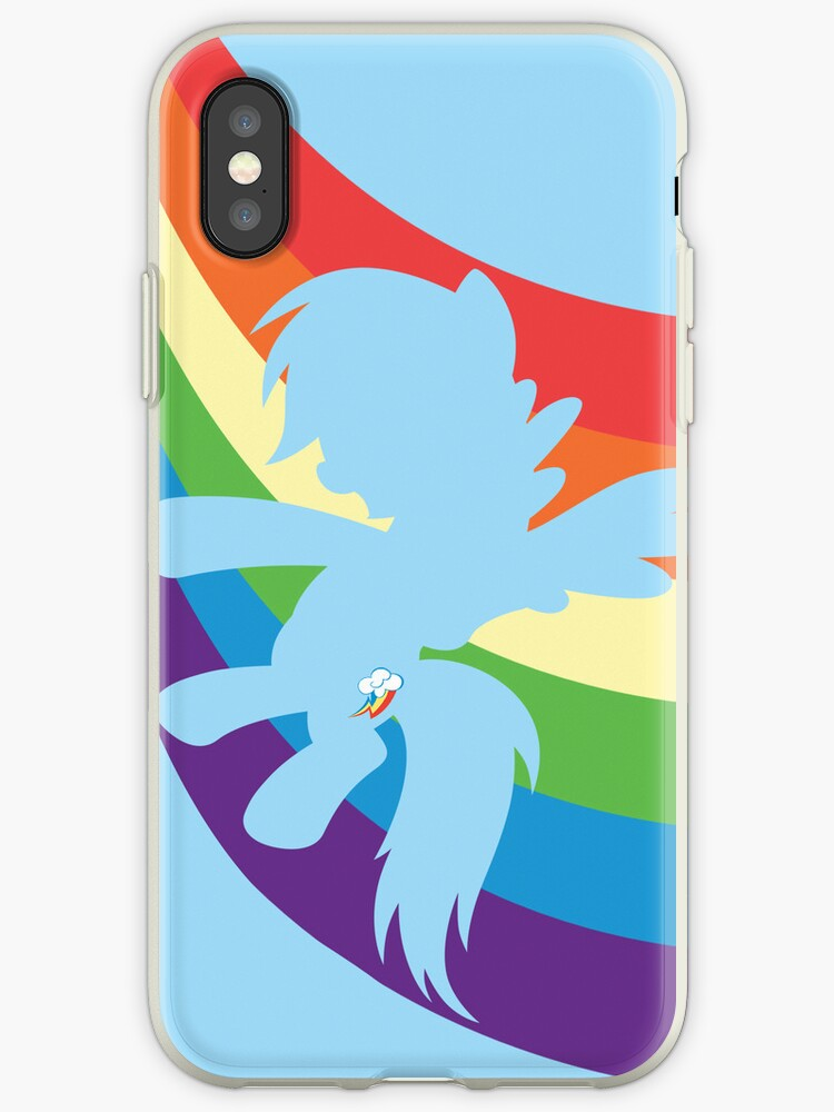 Rainbow Dash iPhone/iPod cover by Frikken